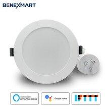 Intelligente Da Incasso A LED RGBW APP di Controllo Vocale di Controllo da Google Assistente/Alexa Echo/IFTTT/APP 3.5 inch 10 W