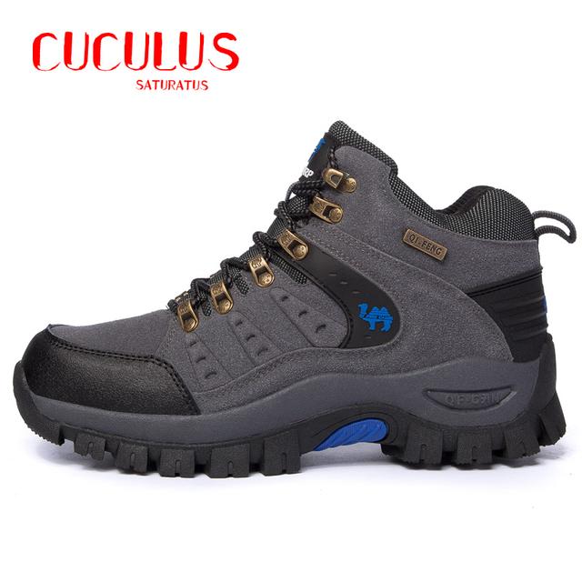 ZHJLUT invierno hombre al aire libre los hombres botas cómodas súper cálido invierno zapatos más el tamaño 36-44 botines impermeables 809