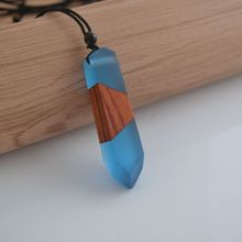fashion hand wood resin necklace pendant, men and women applicable jewelry