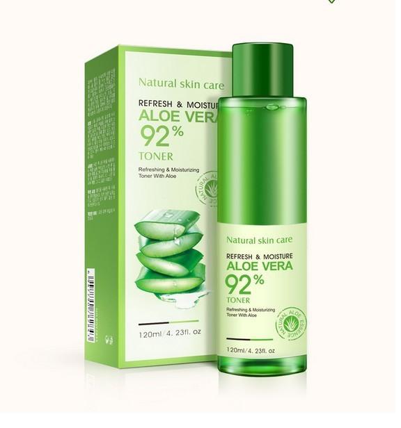 BIOAQUA aloe Hidratante Piel de tóner 120 ml Blanqueamiento acné control de Aceite reducir los poros Cuidado de La Cara