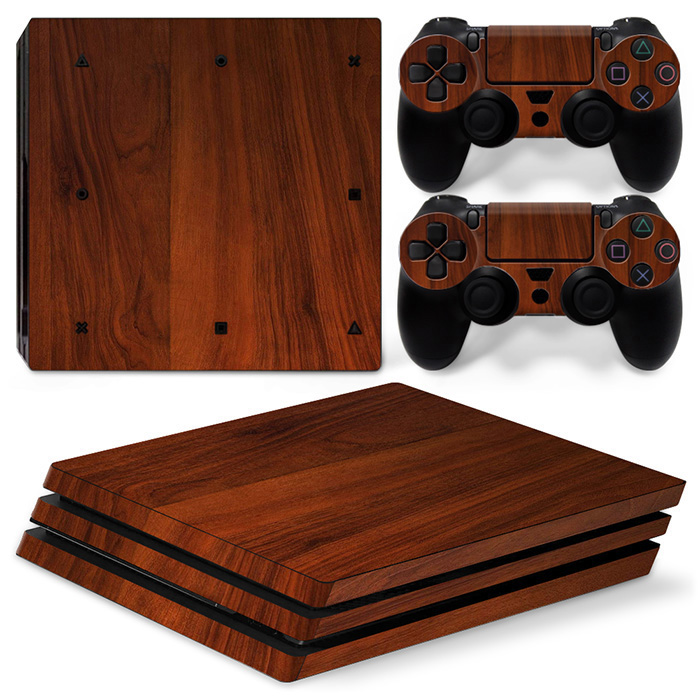 Skin Ps4 Pro Wooden Wood Texture Limited Edition Vinyl Glossy Decal