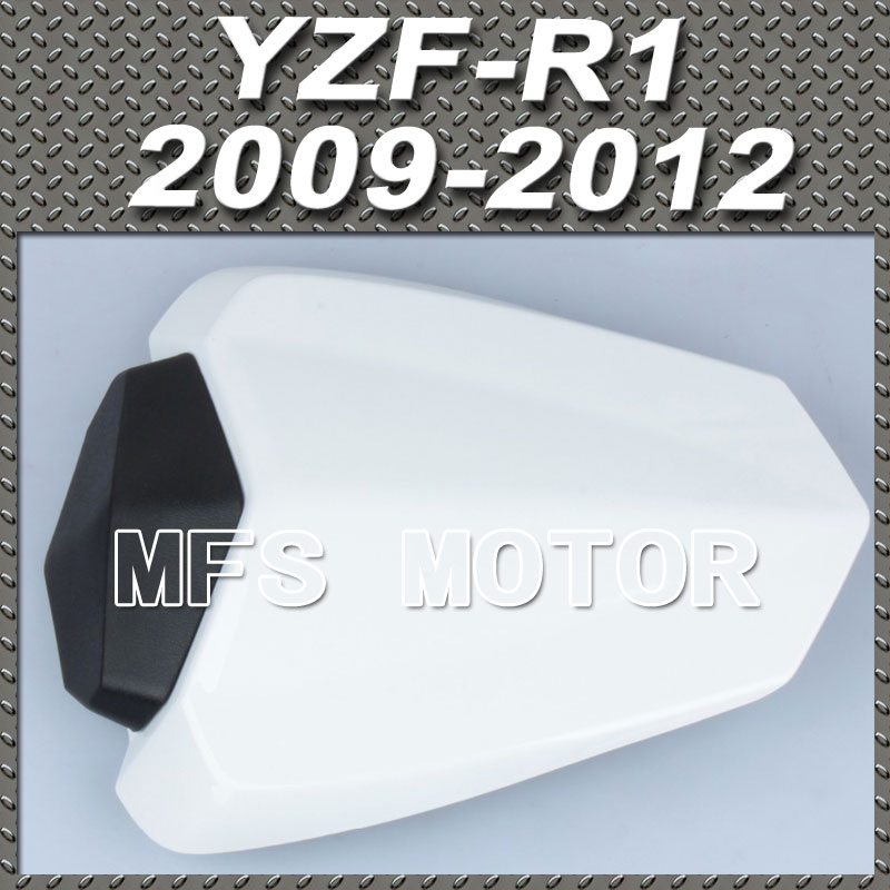 New Motorcycle Rear Pillion All White Injection ABS Seat Cowl Cover For 09 10 11 12 Yamaha YZF-R1 YZFR1 2009 2010 2011 2012