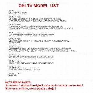 Image 2 - RC1900 שלט רחוק עבור OKI טלוויזיה V19 L19 C19 V22 L22 V24 L24 V26 L26 C26 V32 L32 C32 V37 ישירות להשתמש בקר
