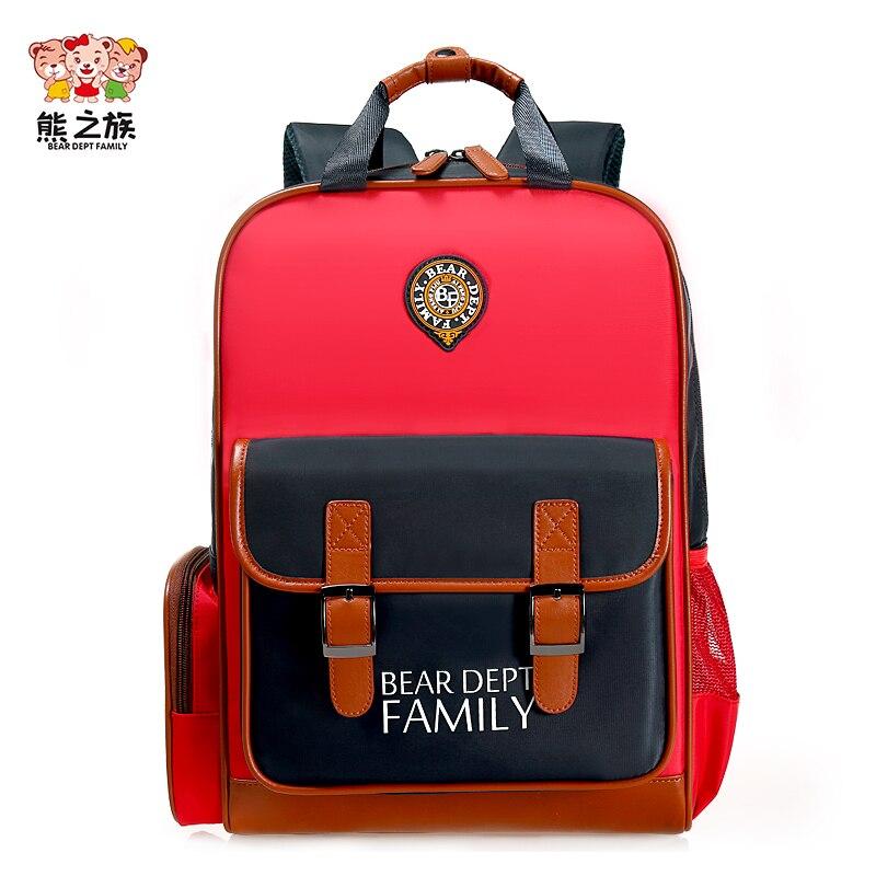 BEAR DEPT FAMILY Children Schoolbags Kindergarten Boys Girls Orthopedic Backpacks School Teen Kids Stress Reliever Travel Bag