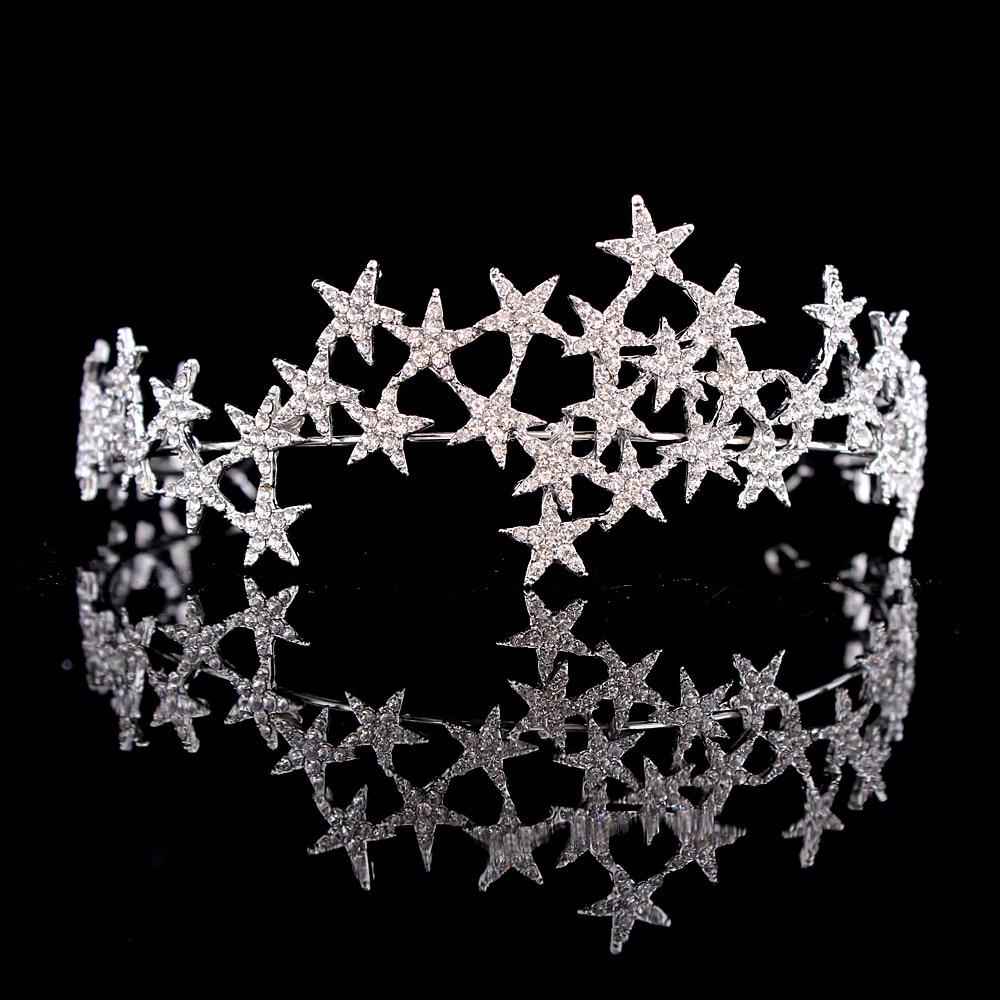 Женская тиара с кристаллами, свадебная диадема для невесты, аксессуары для волос