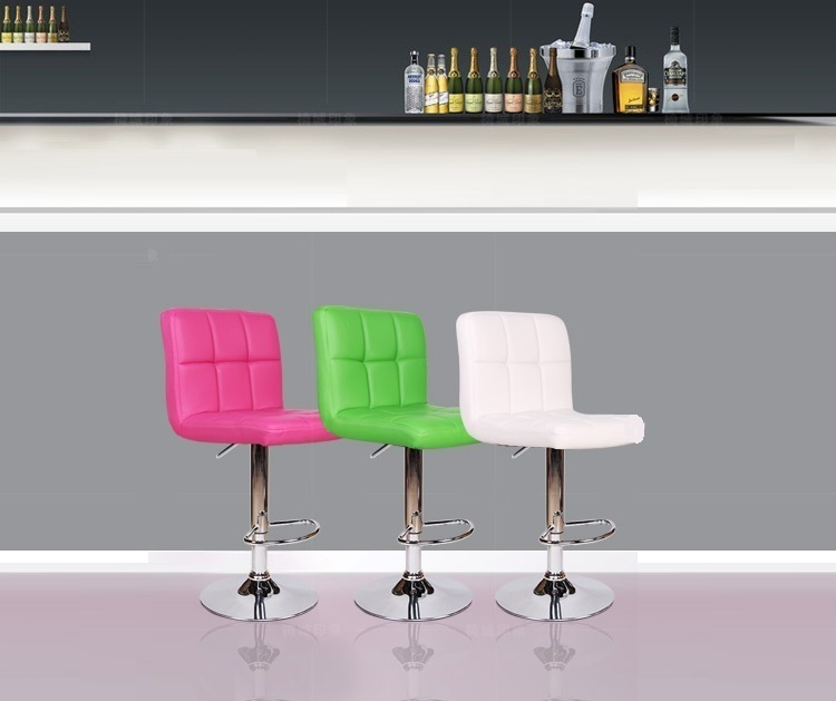 North American country bar chair Nightclub Coffee Stool pink orange color chair stool retail wholesale free shipping