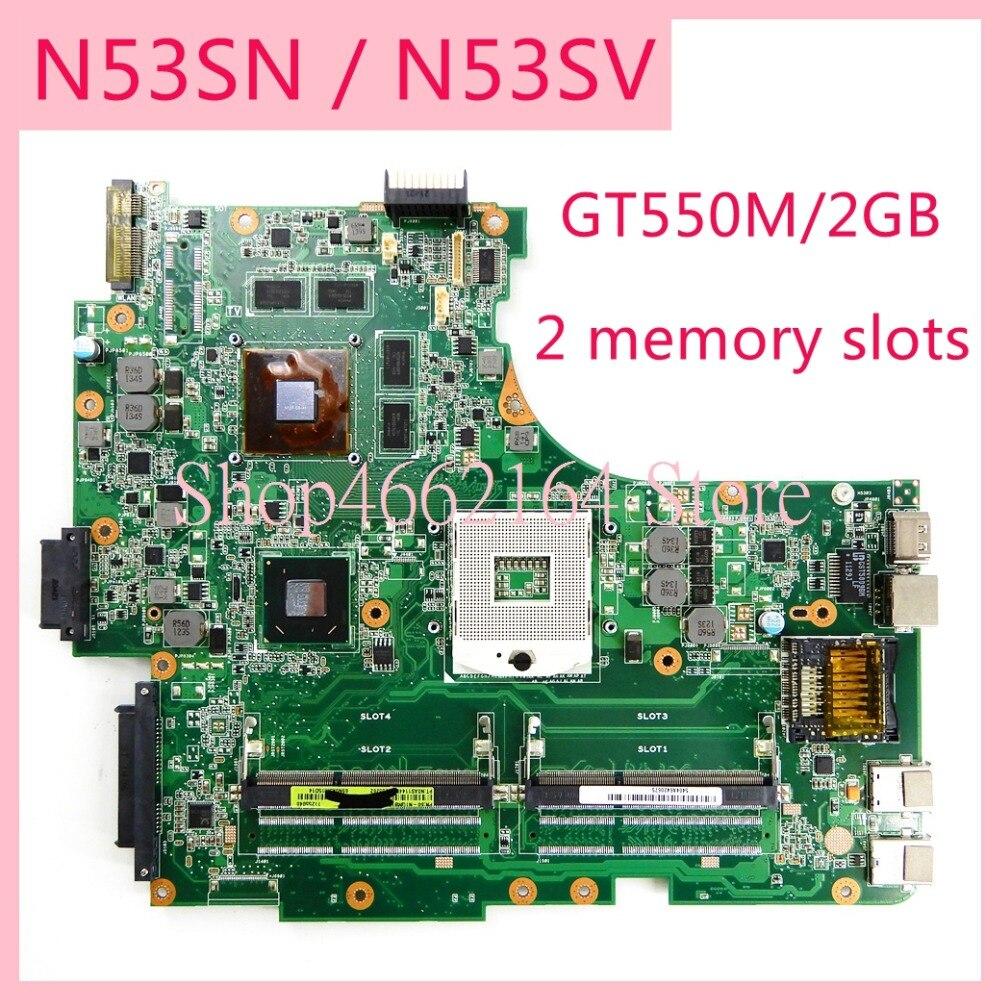 N53SN 2 memory slots GT550M/2GB mainboard REV2.0/REV2.2 For ASUS N53S N53SV N53SN N53SM Laptop motherboard MAIN BOARDN53SN 2 memory slots GT550M/2GB mainboard REV2.0/REV2.2 For ASUS N53S N53SV N53SN N53SM Laptop motherboard MAIN BOARD