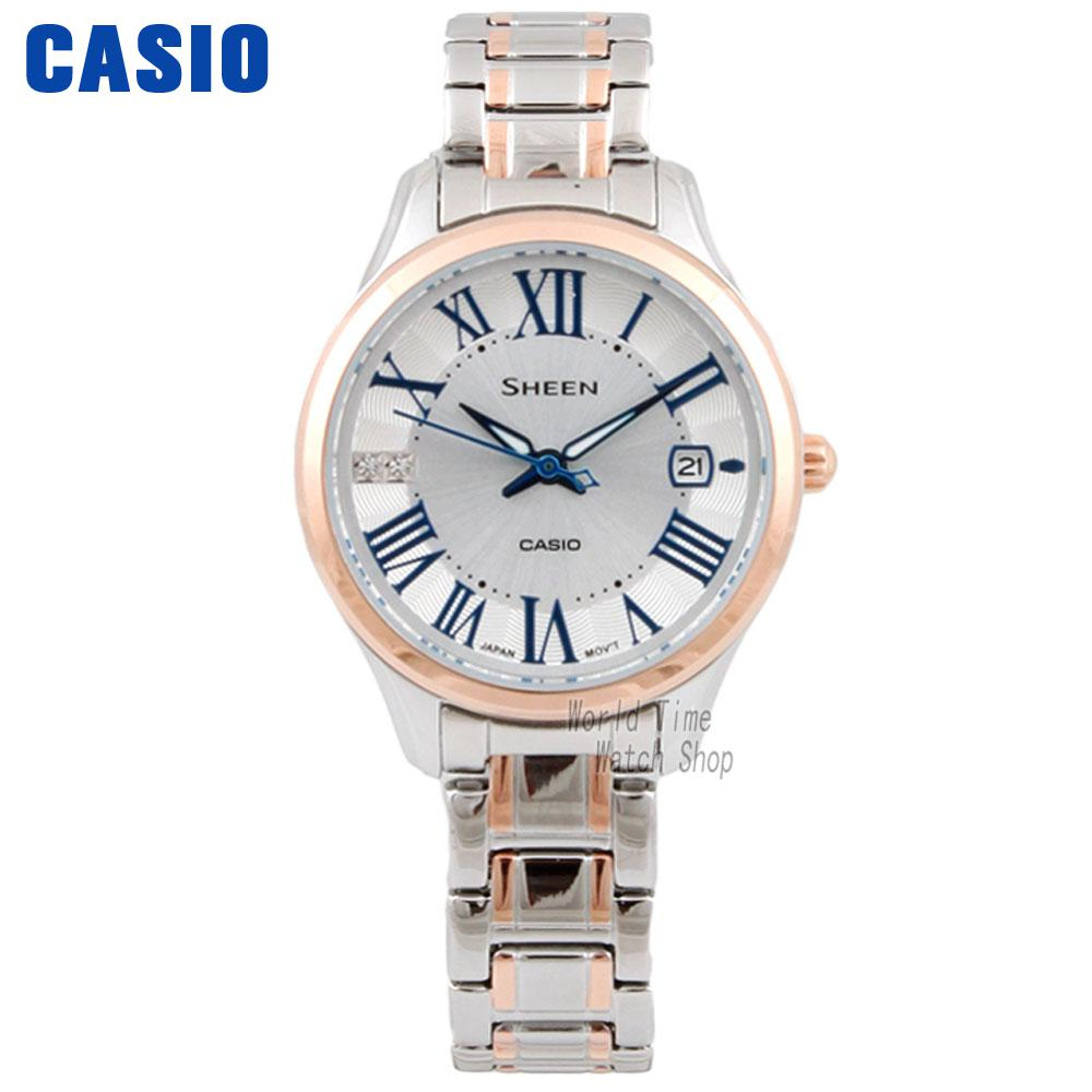 CASIO watch fashion ladies watch waterproof quartz watch SHE-4050SPG-7A casio watch fashion trend ms quartz watch she 4048pgl 6a