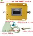 Pantalla LCD Full Set 70dB 500 metros cuadrados GSM900Mhz booster GSM 900 Mhz Teléfono Celular Amplificador de Señal Móvil/Amplificador/kit repetidor