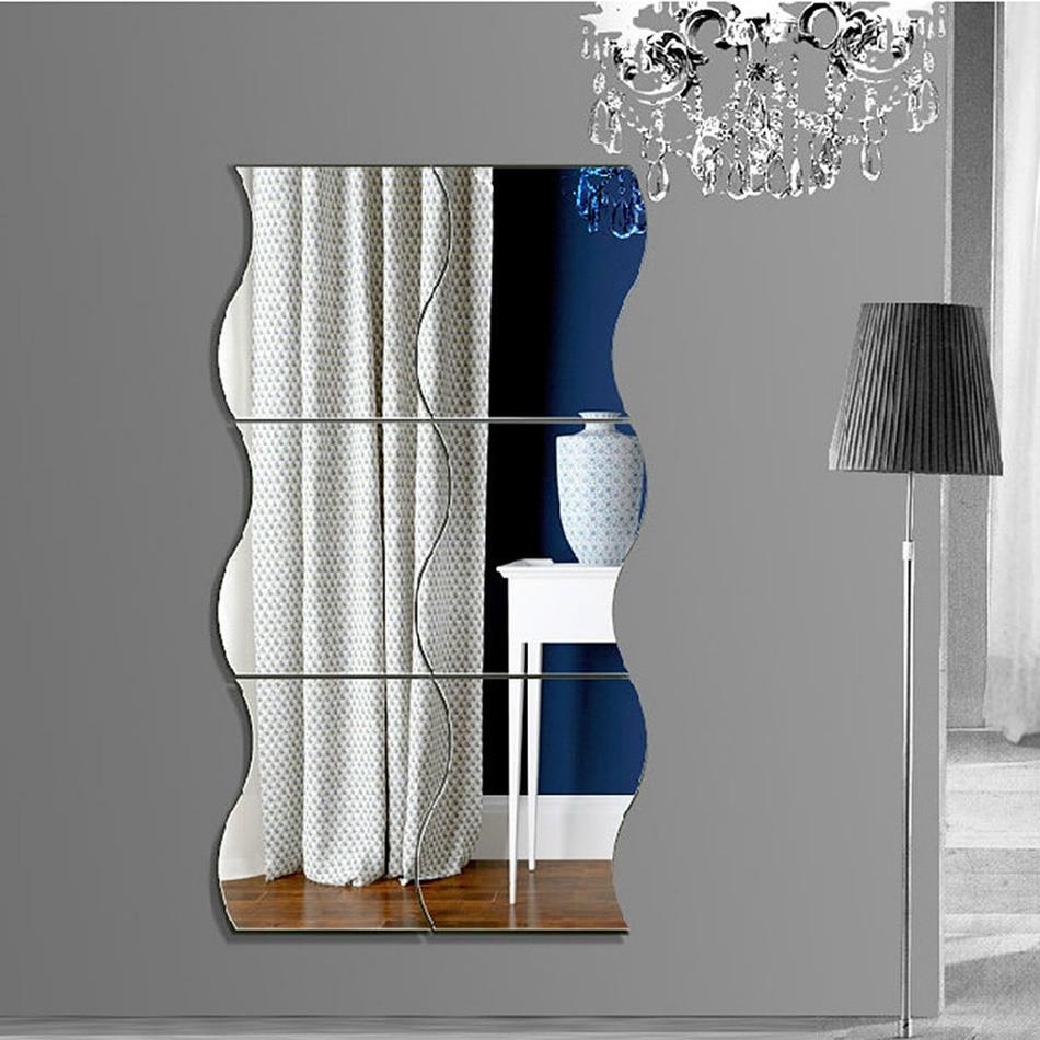 vague miroir mural
