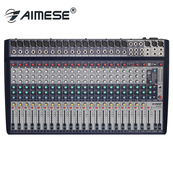 MS-242U Pro 24-channel mixer 18-channel XLR balanced mono input +3 stereo input USB sound card 48V 16DSP digital effects