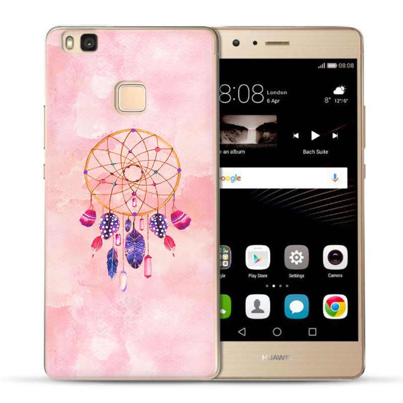MLCRIYG мягкий чехол для телефона для Huawei P9 Lite/P8 Lite/P10 Lite красочный чехол из ТПУ с изображением цветка мандалы матовая окрашены силиконовый чехол для мобильного телефона C096