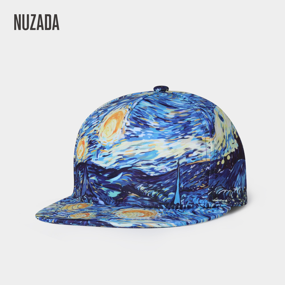 NUZADA Punk Street Fashion Men Women Couple   Baseball     Cap   Spring Summer   Caps   Bone Snapback Original 3D Print Art Design Hat