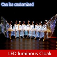 9527 LED luminous Wings Butterfly Cape ballet skirt Adult children's stage costumes Opening Dance Costume