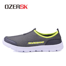 OZERSK Brand Breathable Men Running Shoes Men's Jogging Mesh Summer Mesh Sneaker Casual Slip-on Sandals Shoes Free Shipping(China)