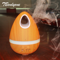TBonlyone 300ML Light Wood Home Ultrasonic Diffuser Essential Oil Air Humidifier Aromatherapy Cool Mist Diffuser Aroma