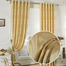 FYFUYOUFY Upmarket European Golden Royal Luxury Curtains for Bedroom  Living Room jacquard Window