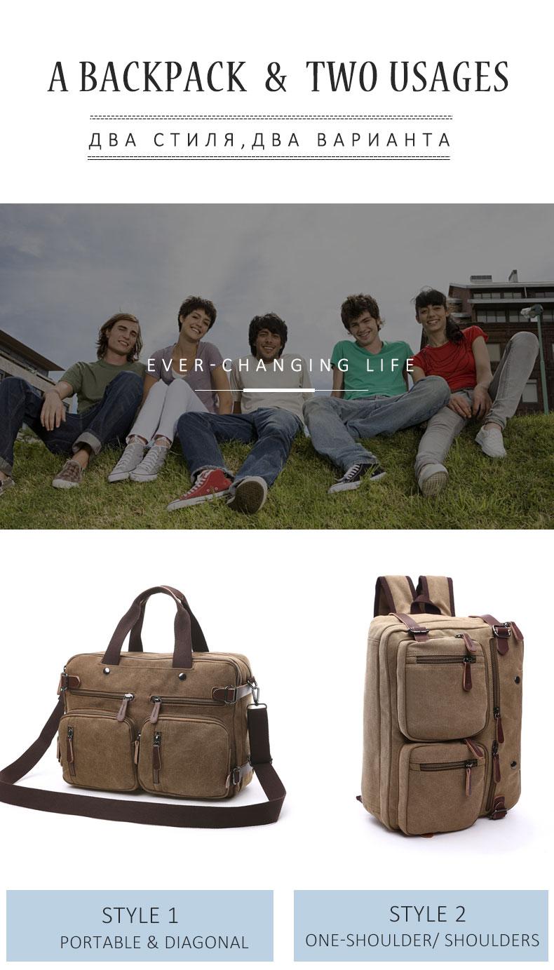 HTB1KqpDB5CYBuNkSnaVq6AMsVXa7 Scione Men Canvas Bag Leather Briefcase Travel Suitcase Messenger Shoulder Tote Back Handbag Large Casual Business Laptop Pocket
