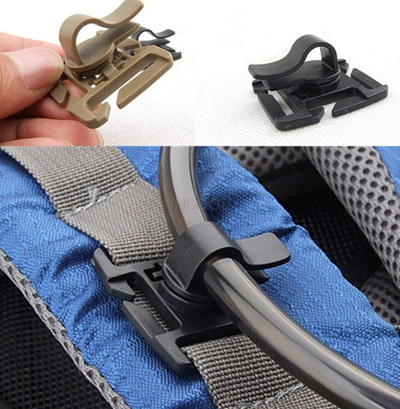Rotatable Water Bladder Tube Trap Hose Clip for Webbing Hydration Backpack