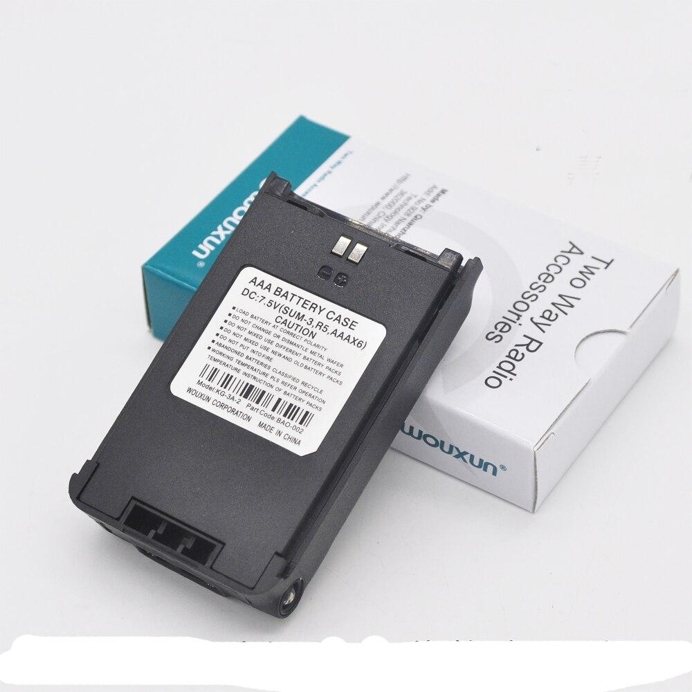 New Original WouXun Battery Case Shell Box 6 X AA For KG-819,KG-889,KG-829,KG-816 Etc Walkie Talkie Two Way Radio