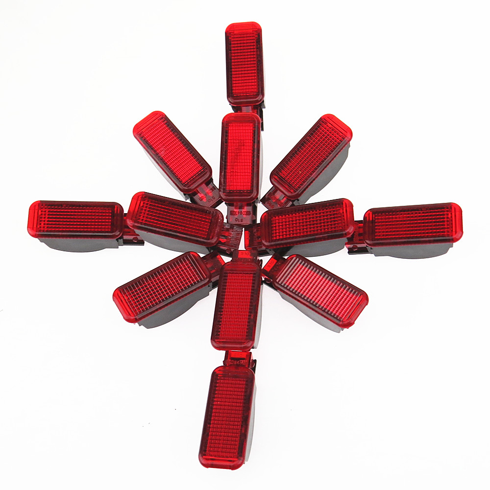 DOXA 12 Pcs Red Door Panel Interior Red Warning Light 8KD947411 8KD 947 411 For A3 S3 A4 S4 A6 S6 A7 A8 RS3 RS4 RS5 RS7 Q3 Q5 TT
