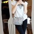 NWT mulheres pérola saco Bao bao sacos sac a laser Diamante treliça geometria Acolchoado saco dobre bolsas & bolsas de ombro Crossbody saco