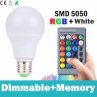 Rgb Led Bulb E27 3w 10w 15w 16colors Led Rgb Lamp With Remote Control Dimmable Lampada
