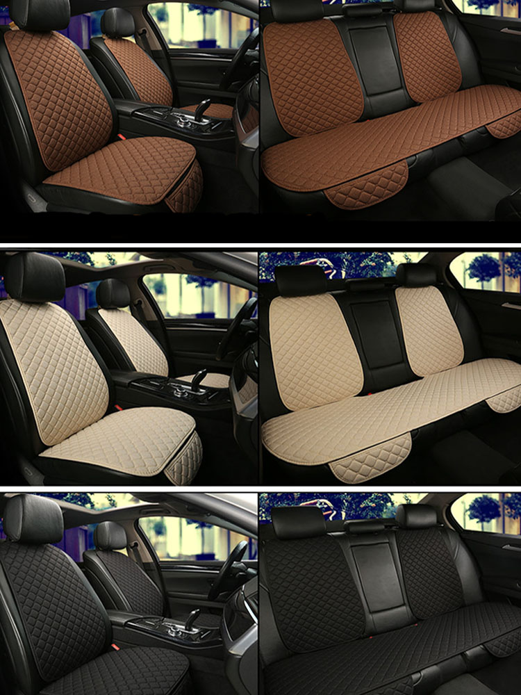 Mat Protector Car-Seat-Cover Back-Cushion-Pad Truck Linen Backrest Flax Auto Interior