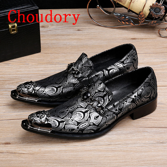 2017 Mens Floral Loafers Silver Tip Mens Wedding Flat Dress Shoes