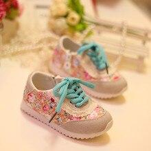 2016 spring and autumn baby kids children sport shoes prewalker ventilation non-slip printing FLOWER YNH003