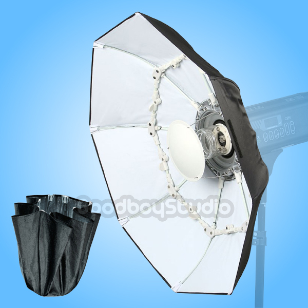 """Alienbees Softbox: 70cm / 27"""" WHITE Portable Collapsible Beauty Dish Softbox"""