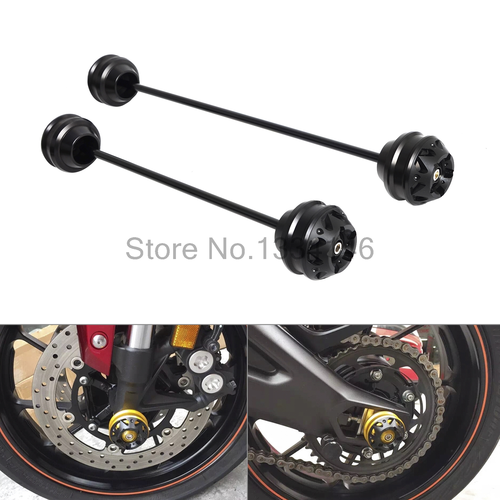 Front Rear Axle Fork Sliders Crash Protector For BMW S1000R S1000RR S1000XR S 1000R 1000RR 1000XR 2010-2016 2017 HP4 2012-2014 ca bm001 bk new motorcycle cnc billet rear axle spindle chain adjuster blocks for bmw hp4 2012 2014 s1000r 2013 2015 s1000rr 09