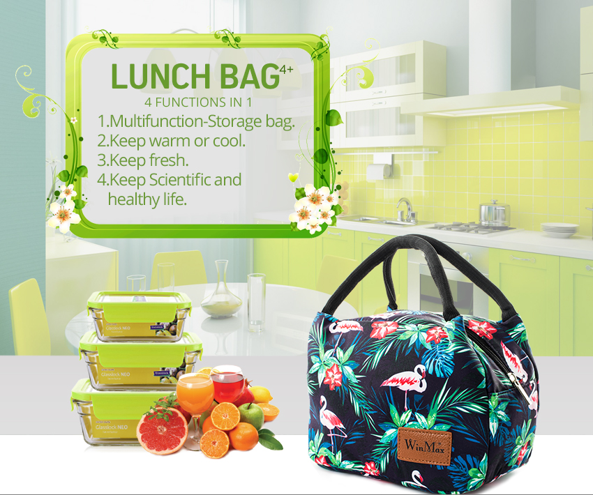 Winmax Brand New Style Portable Insulation Lunch Bags Thermal Food Fresh Picnic Tote Icepack Women kids Men Cooler Lunch Box Bag