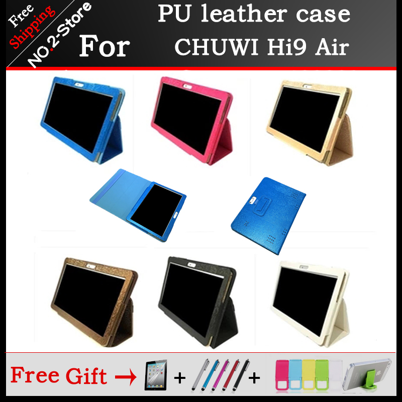10.1 inch Tablet Case PU Leather Protective Shell Stand Cover For Chuwi Hi 9 Air + Stylus + Screen Protector