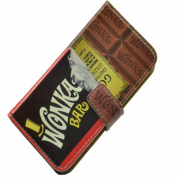 Funny Willy Wonka Golden Ticket Chocolate Bar Wallet Leather
