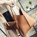 Composite Bags For Female 2016 New Arrival Women Vintage Handbags Brand Quality Leather Lady Totes Simple Fashion Shoulder Bag