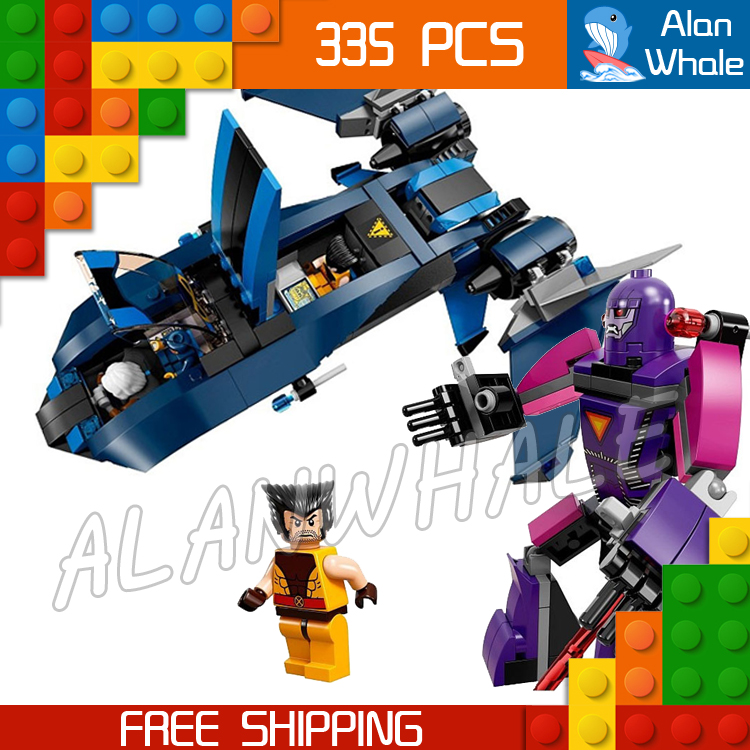 335pcs 2016 Bela new 10250 X-Men vs. The Sentinel amazing fascinating mysterious Compatible With Lego Wolverine Cyclops Storm wolverine vs the marvel universe