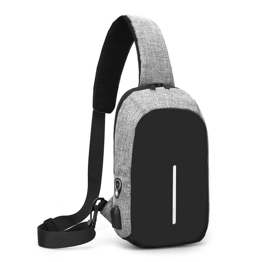 3319f096bd2 Yemelya 2018 Nieuwe Sling Bag voor mannen USB Opladen Schoudertas ...