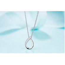 Everoyal Trendy Zircon Bowknot Pendant Necklace For Women Jewelry Vintage Silver 925 Girls Clavicle Necklace Female Accessories everoyal trendy silver 925 girls clavicle necklace jewelry female fashion crystal bowknot pendant necklace for women accessories