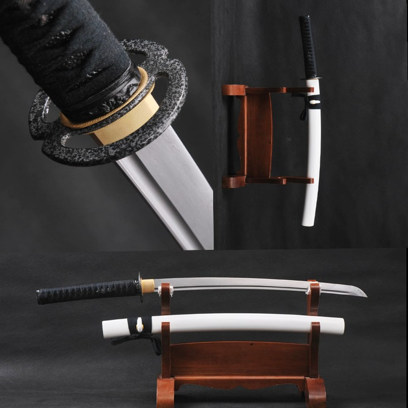 Fully Handmade Japanese Wakizashi Damascus Folded Steel Practical Sword 838