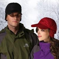 U nisexลายสก๊อตผ้าฝ้ายหมวกปิดหูกันหนาว3สีข้นอบอุ่นSnapback Casquetteหมวกสำหรับกลางแจ้ง