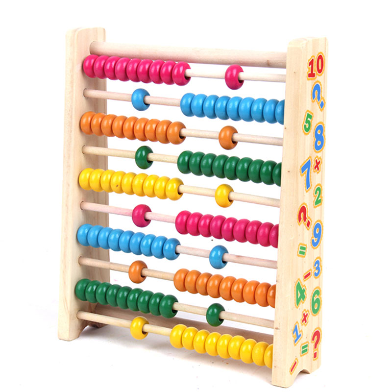 Wooden Montessori Toys Math Colorful Beads Abacus ...