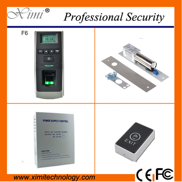 Door access control system TCP/IP 500 fingerprint users +exit button+power supply electric locks fingerprint access control kit biometric fingerprint access controller tcp ip fingerprint door access control reader