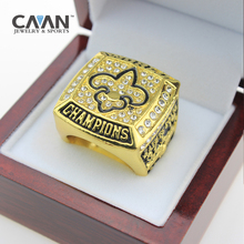Factory wholesale lowest price for fine jewelry 2009 New Orleans Saints World Championship Ring custom big size 11