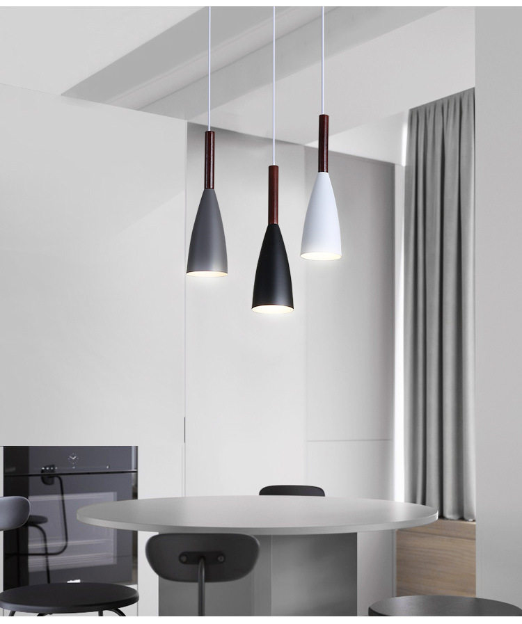 LuKLoy Modern Pendant Light Kitchen Hanging Lamp Dining Room Kitchen Lighting Fixture Loft Decor Wood Hanglamp luminaire Lustre (17)