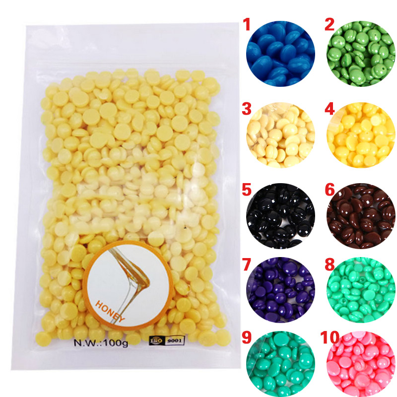 100g Brand New 1 Bag Depilatory Wax Film Hard Wax Beans Pellet Waxing Bikini Hair Removal Bean For All Types Skin Beauty