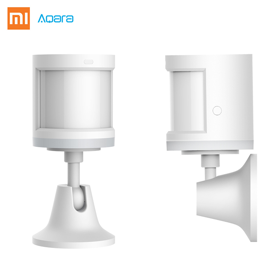 100% D'origine Xiaomi Aqara Smart Corps Humain Capteur ZigBee Sans Fil Connexion Construit Dans La Lumière Intensité Capteurs Travail APP Contral