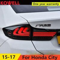 KOWELL Car Styling for HONDA City 2015 2016 Taillights LED Tail Light LED Rear Lamp DRL+Brake+Reversing+Signal LIGHT Accessories
