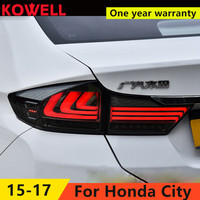 KOWELL Car Styling for HONDA City 2015 2016 Taillights LED Tail Light LED Rear Lamp DRL+Brake+Reversing+Signal LIGHT Accessories