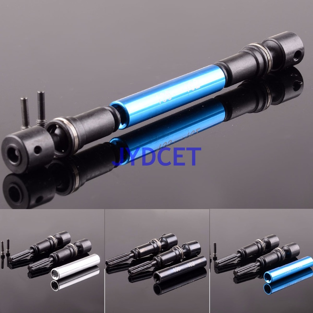 YT237 Steel Rear Main Drive Shaft CVD 135mm -162mm For GPM RC Car 1/10 Axial Racing Yeti RR10 BOMBER gpm racing axial yeti xl monster buggy aluminium center transmission case
